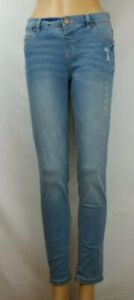 Justice Light Wash Mid Rise Jeggings Soft & Stretchy Jeans Girl's/ Kid's Size 16
