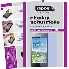 2x Huawei Ascend G615 Schutzfolie klar Displayschutzfolie Folie unsichtbar dipos
