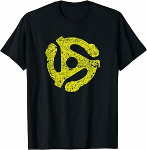 NEW LIMITED 45 RPM Adapter Vintage Style T-Shirt