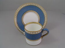 WEDGWOOD ULANDER POWDER BLUE COFFEE CUP/CAN AND SAUCER.