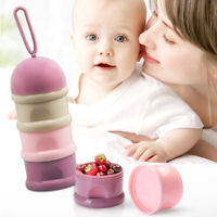 EE_ BH_ 3 Compartments Baby Milk Powder Formula Dispenser Snack Food Storage Con