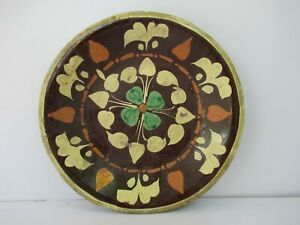 "Antique Superb Multan Sindh 19Th Century Antique Pottery Charger Plate Bowl""F183"
