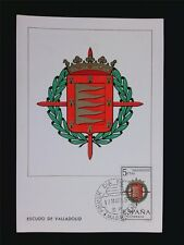 SPAIN MK 1966 ESCUDO VALLADOLID WAPPEN BLAZON MAXIMUMKARTE MAXIMUM CARD MC c5593