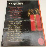 TENNESSEE WILLIAMS ALGER HISS ROY COHN December 1960 ESQUIRE Magazine