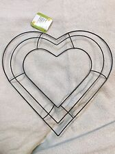 """13"""" Heart Shaped Metal Wreath Frame DIY Macrame Floral Crafts Wire Form Deco"""
