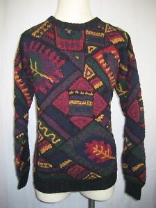 Mens Northern Isles Hand Knitted Ramie/Cotton Crewneck Pullover Sweater sz M