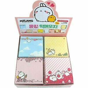2 x Molang Memo Pads Non-sticky Bunny Kawaii Stationery (random)
