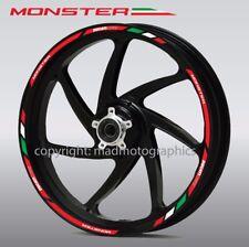 Ducati Monster 696 796 1200 wheel decals stickers rim stripes Laminated 797 821