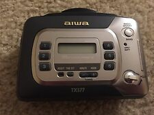 AIWA HS-TX377 Portable Cassette Player AM/FM Stereo Radio TESTED