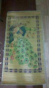 Tappeto telo mare in bamboo decorato