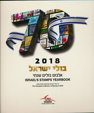 ISRAEL 2018 COMPLETE YEAR SET  BOOK OF STAMPS & S/SHEETS MNH