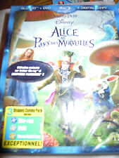 COMBO BLU RAY+DVD+DIGITAL COPY ALICE AU PAYS DES MERVEILLES DISNEY TIM BURTON