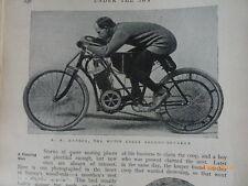 Teddington Canal Lock Hanson Motorbike Speed Record Oar Making Rowing 1904 Rare