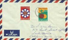 Suriname SEMIPOSTALS Sc#B246-250 complete set on two covers Paramaribo