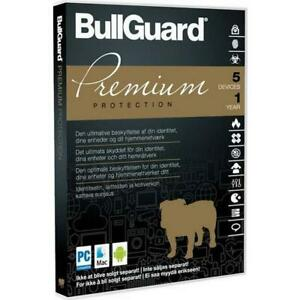 Bullguard Premium Protection & AntiVirus 2021 - 5 Devices, 1 Year