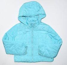 Gap Kids Girls M 8 aqua puffer lightweight Primaloft jacket coat Fall Bts
