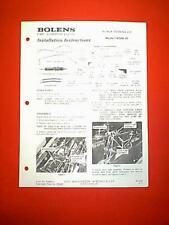 BOLENS TRACTOR POWER STEERING ATTACHMENT MODEL 18088-01 INSTALLATION MANUAL 4/73