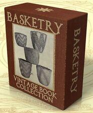 BASKETRY, 41 Vintage Books on CD BASKET WEAVING, RAFFIA, NATIVE AMERICAN CRAFTS