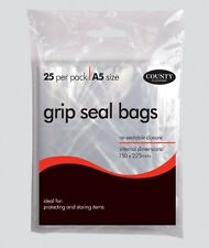 Grip Seal Bag 25 Pack A5