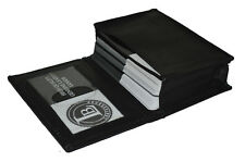 Genuine Leather Expandable Credit Card ID Business Card Holder Wallet new black