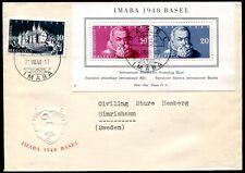 SCHWEIZ 1948 BLOCK13 FDC ERSTTAGSBRIEF 120€(D4522