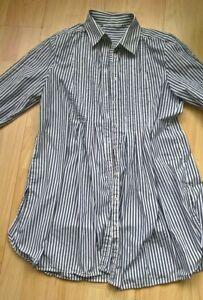 Ladies  Striped blue Smock Dress 12