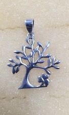 Sterling Silver Tree Of Life With Shamrock Pendant
