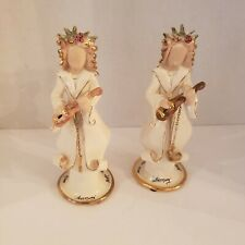 2 Blue Sky Clayworks Heather Goldminc Angel of Harmony Candle Holder Sept 11
