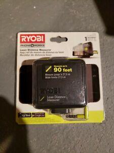 Ryobi Laser Distance Measurer Phone Works ES1000, 90 feet for Smartphones