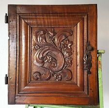 18 th Farmhouse flower carving cabinet door Antique french salvaged furniture
