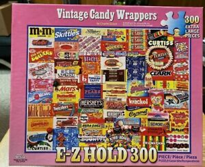 White Mountain Vintage Candy Wrappers 300 Piece Jigsaw Puzzle 100% Complete 2017