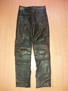 Ladies Dennisport Black Motorcycle Leathers, Size 10.