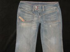 Diesel Italian Jeans Womens Hush DS Low Boot 100% Cotton Distressed Size 27