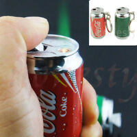 1pc Novelty Mini Cola/ Beer Lighter Refillable Butane Gas Pocket Keychain Gift