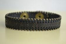 DIESEL Bracciale ajesux bracciale bracelet nuovo MARRONE PELLE LEATHER