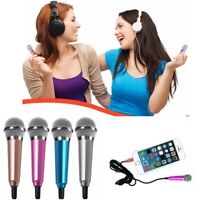 3.5mm Mini Microphone Mic Karaoke Stereo Sound Record for All Cell Phone PC iPad