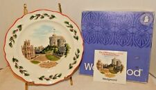 Wedgewood 1980 Queens Ware Christmas Plate W/Box & Insert Of Windsor Castle