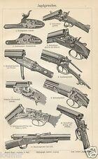1899= FUCILI ANTICHI = Artiglieria = Armi storiche = Stampa Antica