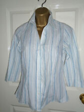 Matalan Striped Collared Blouse / Shirt Size 8 - Work / Office