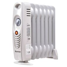700W Mini Electric Oil Filled Radiator Home Room Heater Thermostat Radiant Heat
