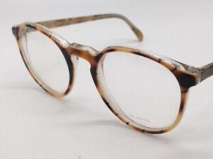 Glasses True Vintage Binocle Paris Round Panto Brown Cat Blogger Size M 1980er