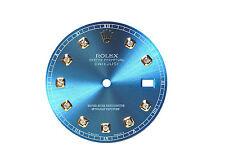 Rolex Men's Datejust II Ice Blue Custom diamond Dial 2Tone or S-S