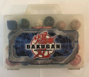 Bakugan Battle Brawlers lot of 18 With Cards & Case