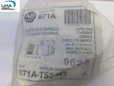 ALLEN BRADLEY 871A-TS5-N3 QUICK DISCONNECT CHAMBER TERMINAL ser. A *** NEW