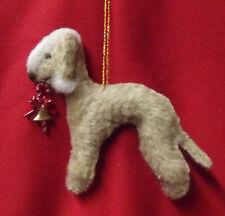 BEDLINGTON TERRIER LIVER / SAND dog Christmas decoration. Part NEEDLE FELTED