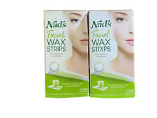 Nad's Facial Wax Strips - Hypoallergenic All Skin Types Lot Of 2
