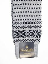 Brooks Brothers Men's Socks Fair Isle Snowflake Wool Made in England