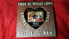 New Personalized Couples Name Frame Custom Wood Engagment Gift Love Heart7.5x7.5