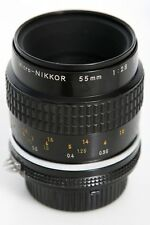 Nikon Micro Nikkor 55mm f2.8 Lens  AIS Mount * focus re-lubed