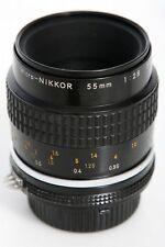 Nikon Micro Nikkor 55mm f2.8 Lens  AIS Mount * focus re-lubed